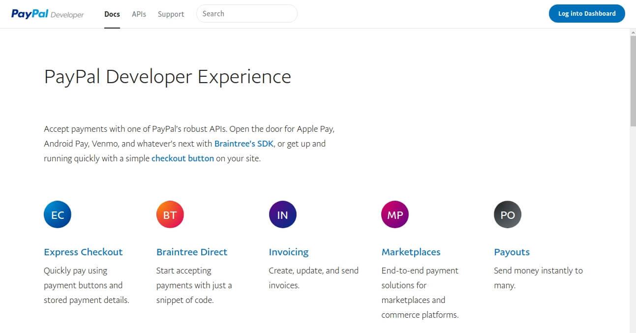 Paypal Developer Seite