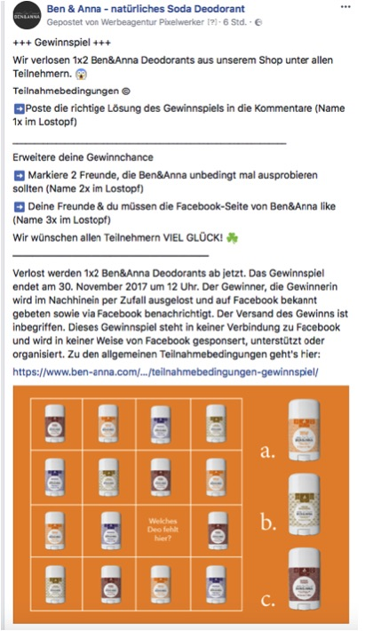 Gewinnspiele für facebook