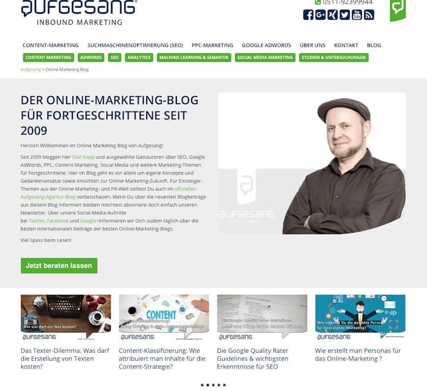 Aufgesang Blog