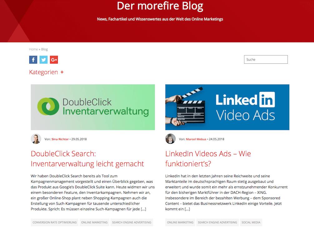 Der morefire Blog