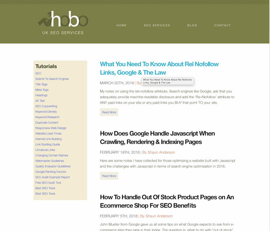 Hobo Blog