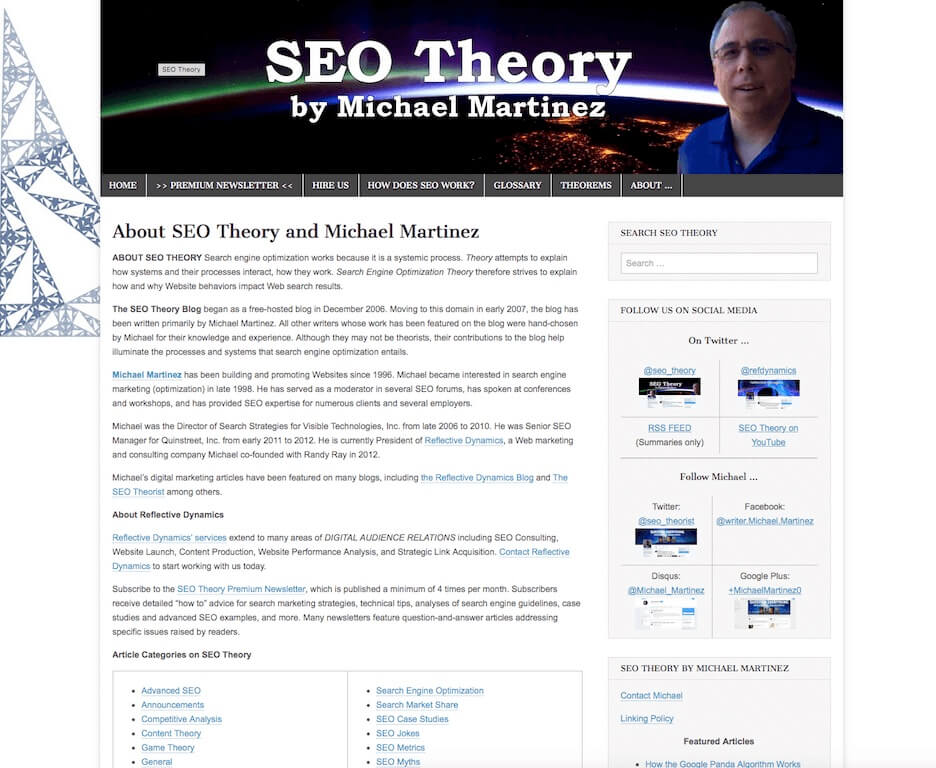 SEO Theory Blog