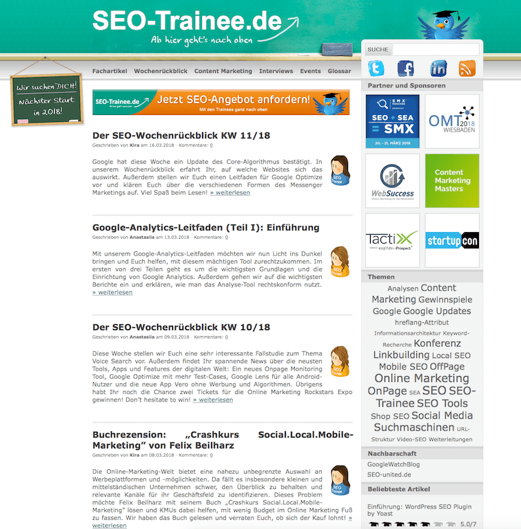 SEO-Trainee Blog