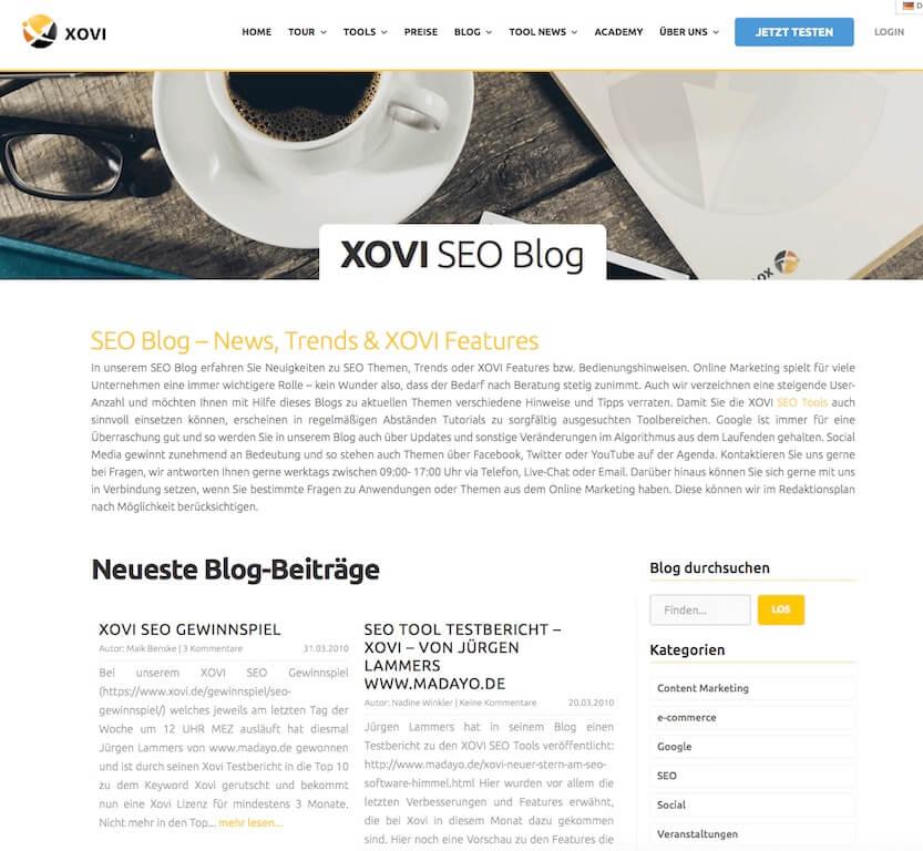 Xovi Blog