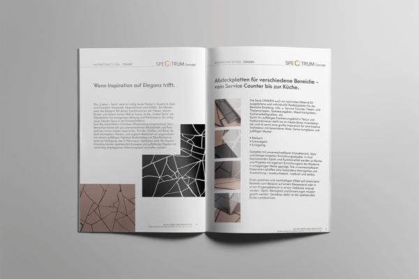 Insgesamt gestalteten unsere Designer 35 Broschüren und Kataloge, die dem Corporate Design entsprechend gestaltet wurden.