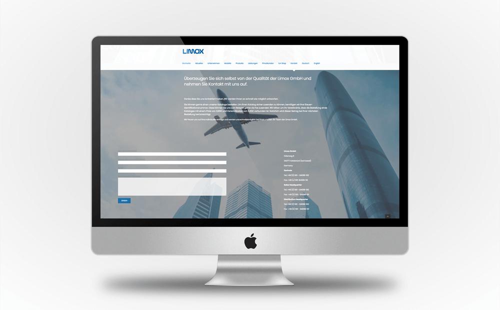 Für die Limox Website erstellten wir ein ansprechendes und modernes Design, das das Sortiment und den Leistungsumfang von Limox übersichtlich vermittelt und sich von der Konkurrenz abhebt.