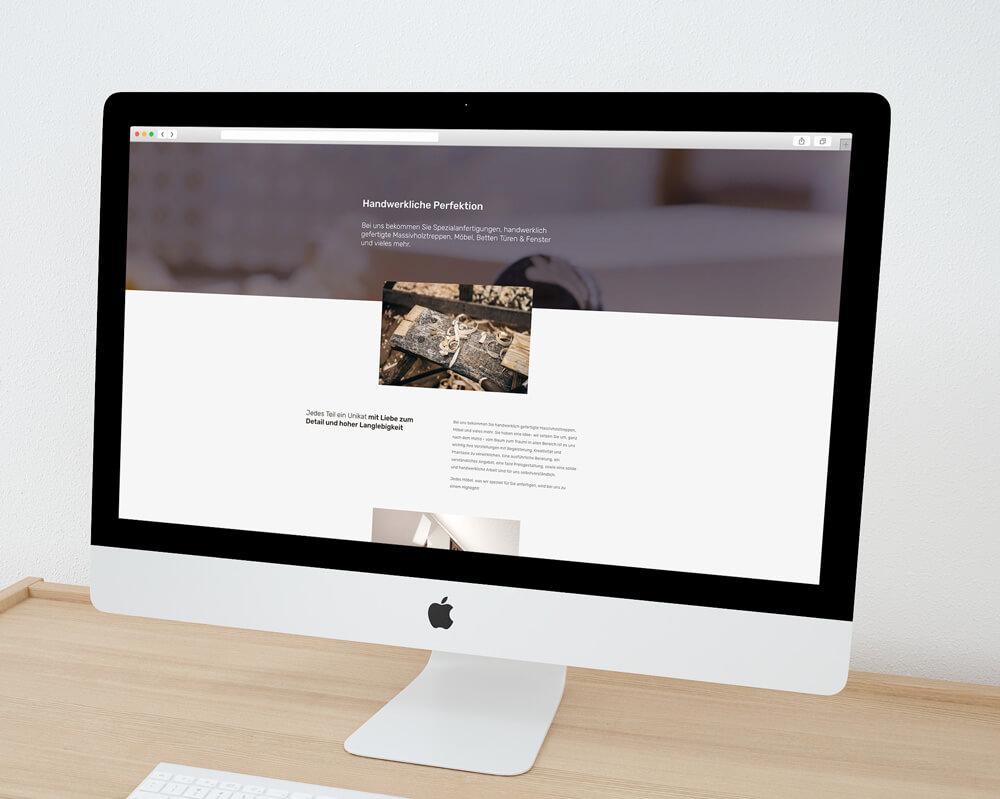 Weiterhin legten wir den Fokus der Website auf die liebevolle und hochwertige Handwerkskunst, die die Tischlerei Schellenberger ihren Kunden bietet.