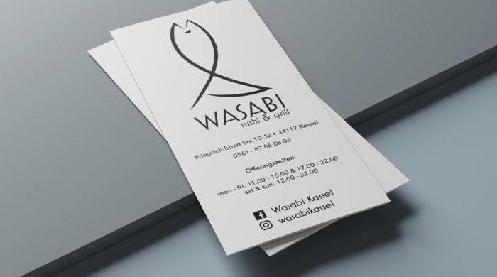 Die Speisekarte zum Mitnehmen ist in einem handlichen Flyer-Format angelegt worden.