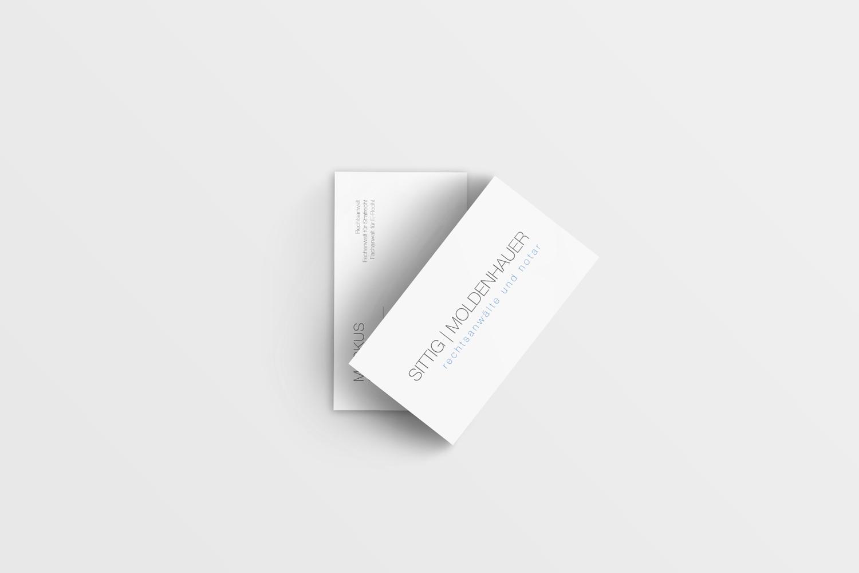 Die Visitenkarten wurden, wie auch die anderen Printprodukte, sehr schlicht gehalten und fügen sich somit optimal in das neue Corporate Design ein.
